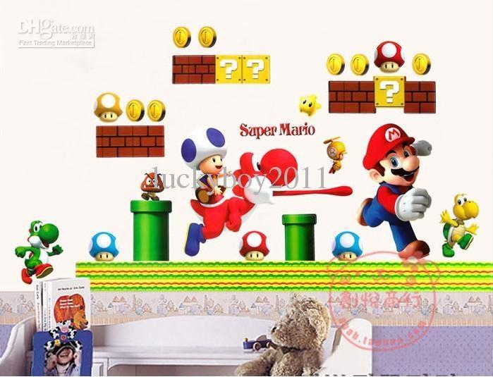 Super Mario Kindergarten Bedroom Classroom Decorative Wall Throughout Wall Art For Kindergarten Classroom (View 17 of 20)