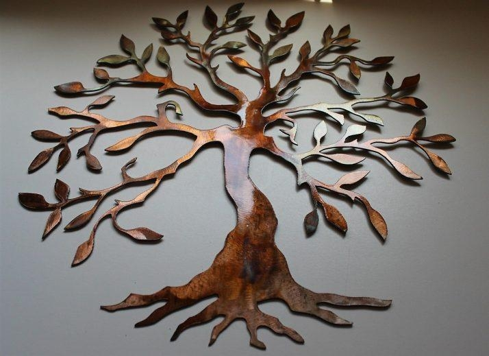 Superb Large Metal Tree Wall Decoration 77 Contemporary 'large Oak Inside Contemporary Large Oak Tree Metal Wall Art (Photo 2 of 20)