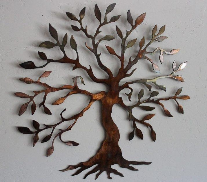 Superb Large Metal Tree Wall Decoration 77 Contemporary 'large Oak Regarding Contemporary Large Oak Tree Metal Wall Art (View 14 of 20)