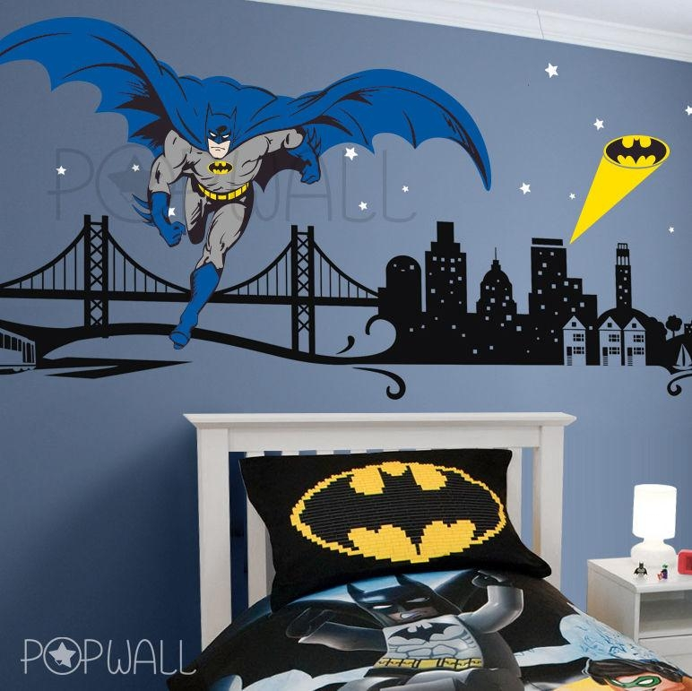 Superhero Wall Decal Website Inspiration Batman Wall Decals – Home Pertaining To Superhero Wall Art Stickers (View 5 of 20)