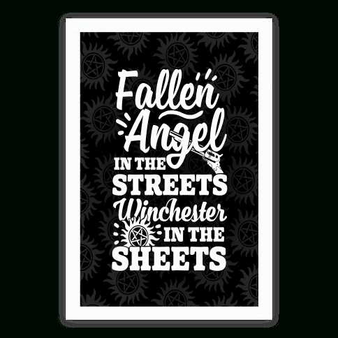 Supernatural Wall Art – T Shirts, Tanks, Coffee Mugs And Gifts Regarding Supernatural Wall Art (Image 13 of 20)