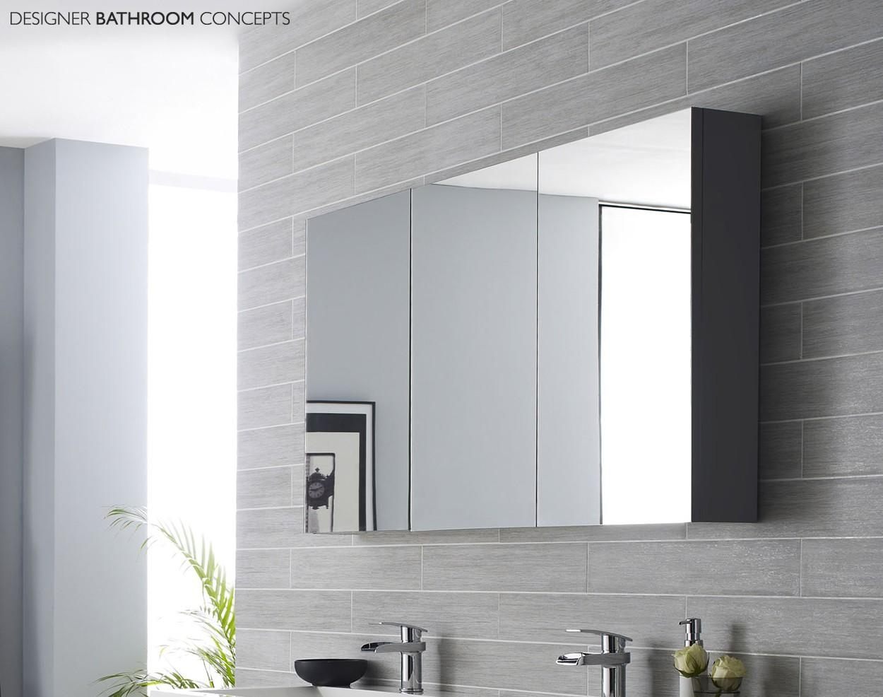 Surprising Large Mirrored Bathroom Cabinet Wall Mirror For With In Bathroom Cabinets Mirrors (View 4 of 20)