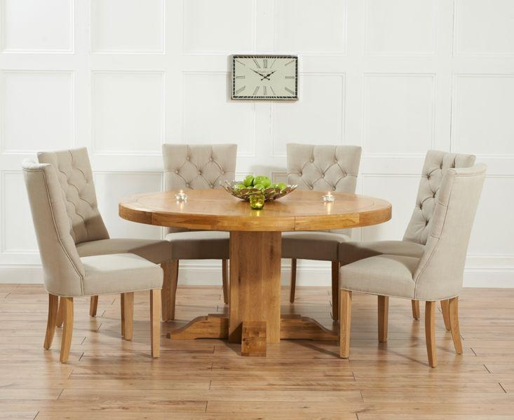 Featured Image of Round Oak Dining Tables And Chairs