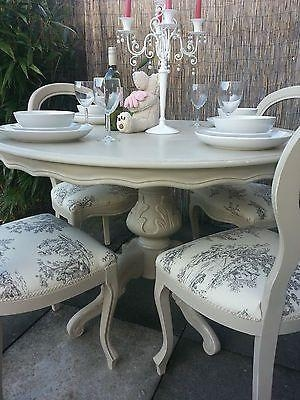 Surprising Shabby Chic Dining Tables And Chairs 61 With Additional With  Regard To Most Up To