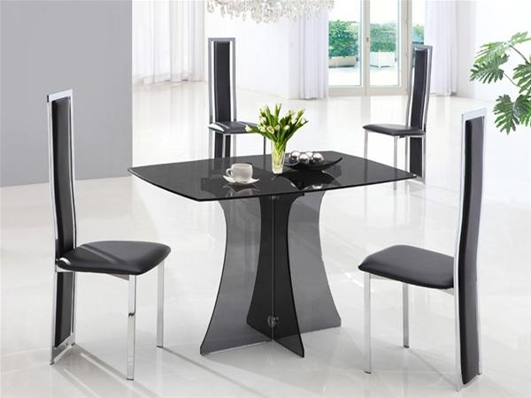 Table Chair Small Glass Dining And Chairs Uotsh With Regard To In Compact Dining Tables And Chairs (Image 19 of 20)