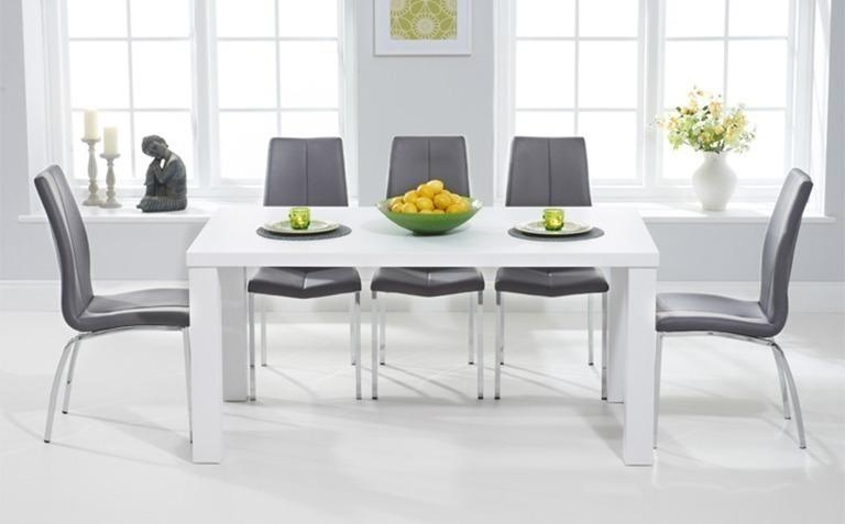 Tables Good Dining Room Tables Industrial Dining Table And White In 2018 High Gloss White Dining Chairs (Image 14 of 20)