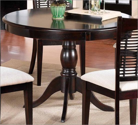 Tables Stunning Round Dining Table Extendable Dining Table In Dark For 2017 Dark Wood Extending Dining Tables (Image 16 of 20)