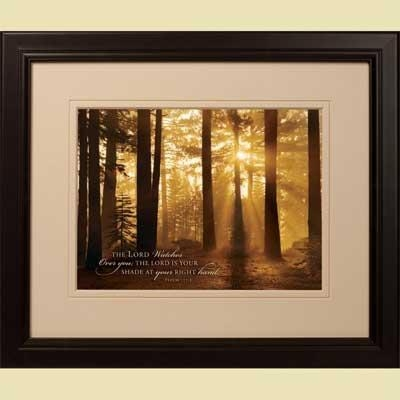 Tahoe Smoky Sunrise' Framed Christian Art – Psalm 121:5 Within Christian Framed Wall Art (View 16 of 20)