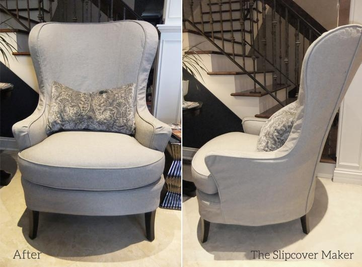 Tailored Denim Slipcover For Arhaus Chair | The Slipcover Maker In Arhaus Slipcovers (View 5 of 20)