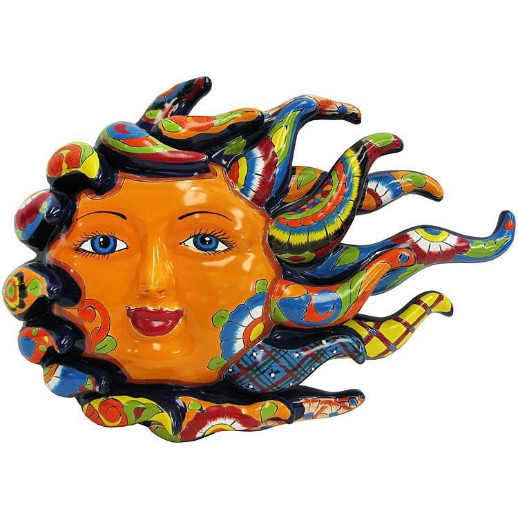 Talavera Wall Art Collection – Special Edition Talavera Sun – Twa200 Intended For Mexican Ceramic Wall Art (Image 16 of 20)