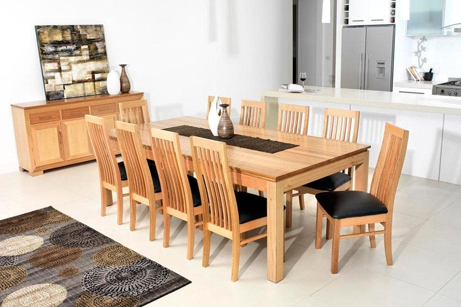 Tamworth Dining Suite <Br> Tassie Oak With A Natural Finish Regarding 2018 Oak Dining Suite (Image 17 of 20)