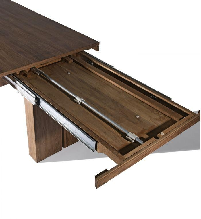 Teak Double Extendable Dining Table For Most Current Extendable Dining Sets (Image 16 of 20)
