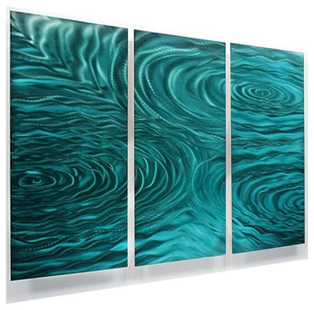 Featured Image of Teal Metal Wall Art