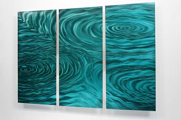 Teal Metal Wall Art – Wall Art Design Within Teal Wall Art Uk (Image 10 of 20)