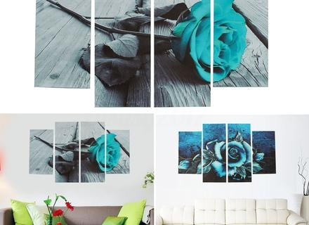 Teal Wall Art Teal Flower – Blogstodiefor Within Teal Wall Art Uk (Image 12 of 20)