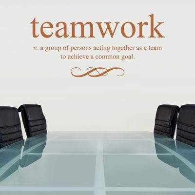 Teamwork Defined – Quote – Wall Decals Stickers Graphics | Office With Regard To Inspirational Wall Decals For Office (Image 18 of 20)