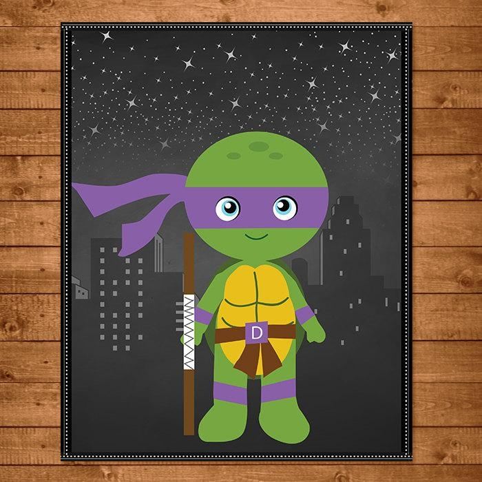 Teenage Mutant Ninja Turtles Donatello Wall Art Chalkboard For Tmnt Wall Art (Image 15 of 20)