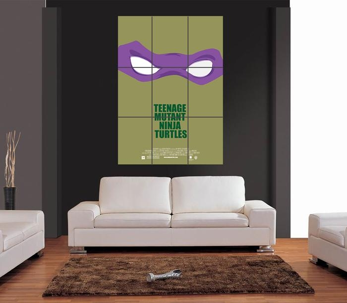 Teenage Mutant Ninja Turtles Film Movie Giant Wall Art Print Inside Tmnt Wall Art (Image 16 of 20)