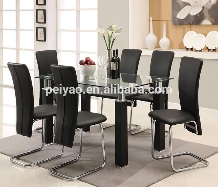Tempered Glass Dining Table, Tempered Glass Dining Table Suppliers In Most Recent Dining Room Glass Tables Sets (Image 17 of 20)