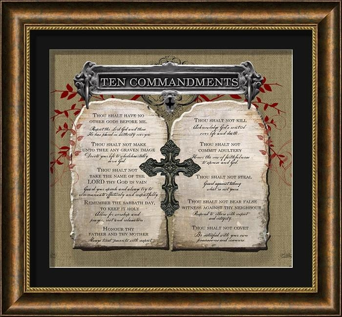 Ten Commandments Christian Wall Decor | Lordsart Intended For Ten Commandments Wall Art (View 2 of 20)