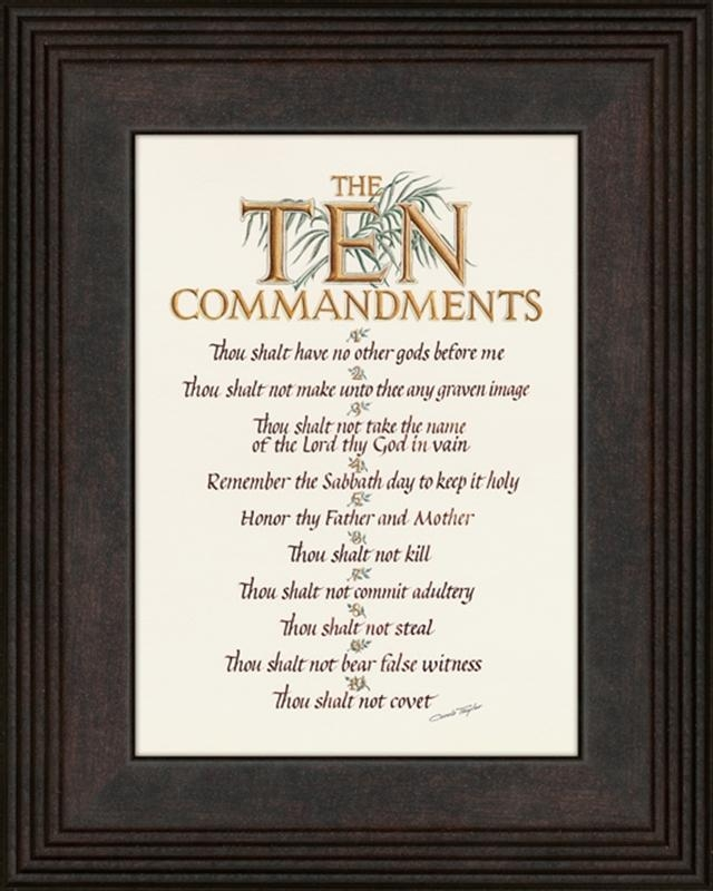 Ten Commandments Christian Wall Decor | Lordsart Throughout Ten Commandments Wall Art (View 13 of 20)