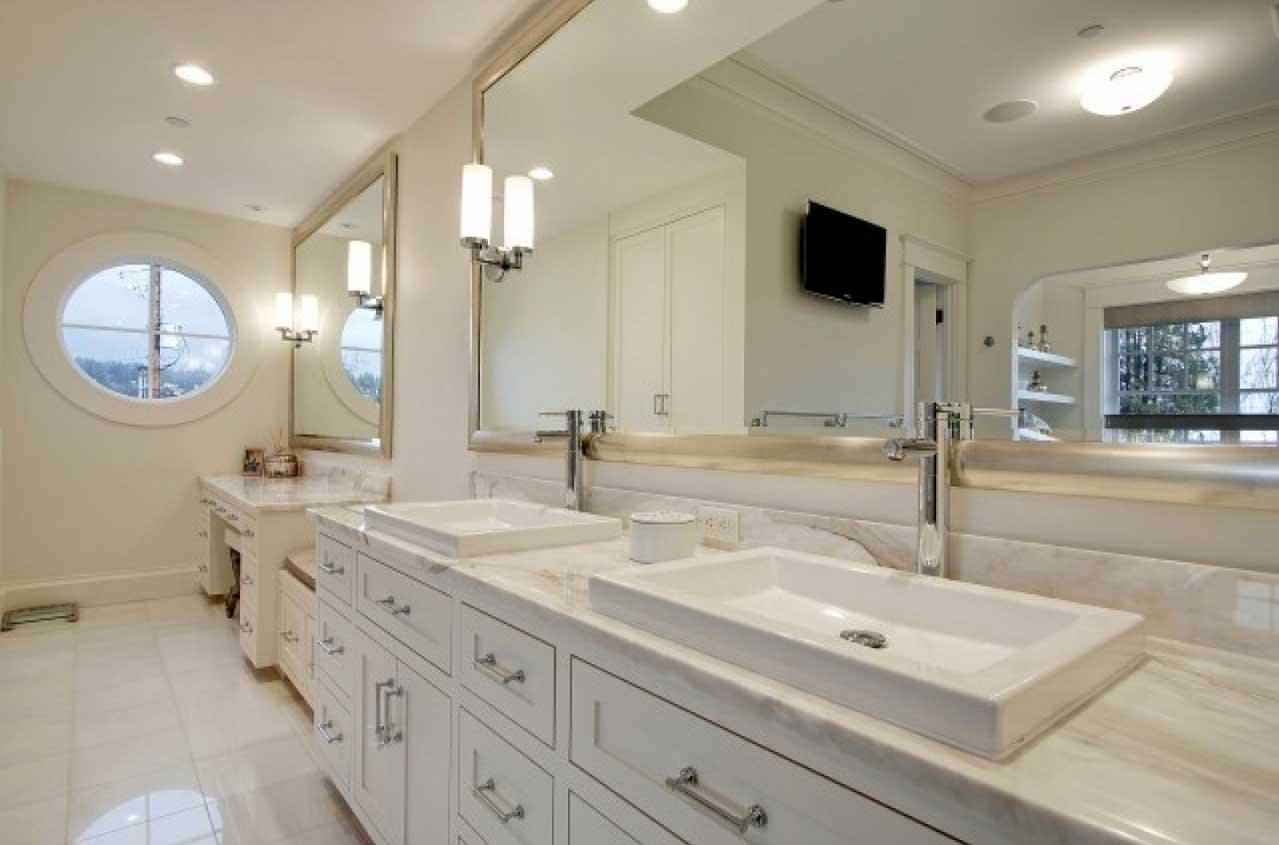 Terrific Large Bathroom Vanity Mirror Large Bathroom Wall Mirror Throughout Large Framed Bathroom Wall Mirrors (Image 20 of 20)