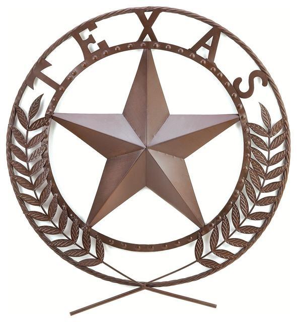 Texas Star Wall Plaque – Southwestern – Metal Wall Art – Inside Texas Star Wall Art (Image 9 of 20)
