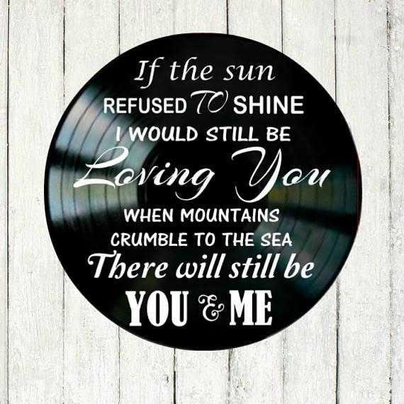 Thank You Song Lyrics Led Zeppelin Vinyl Record Wall Art Music With Led Zeppelin Wall Art (Image 15 of 20)
