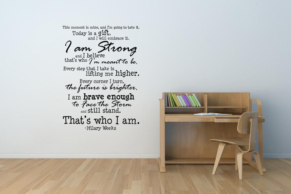 That's Who I Am Subway Art Size 17 X 23 Inches Ideal With Wall Cling Art (View 9 of 20)