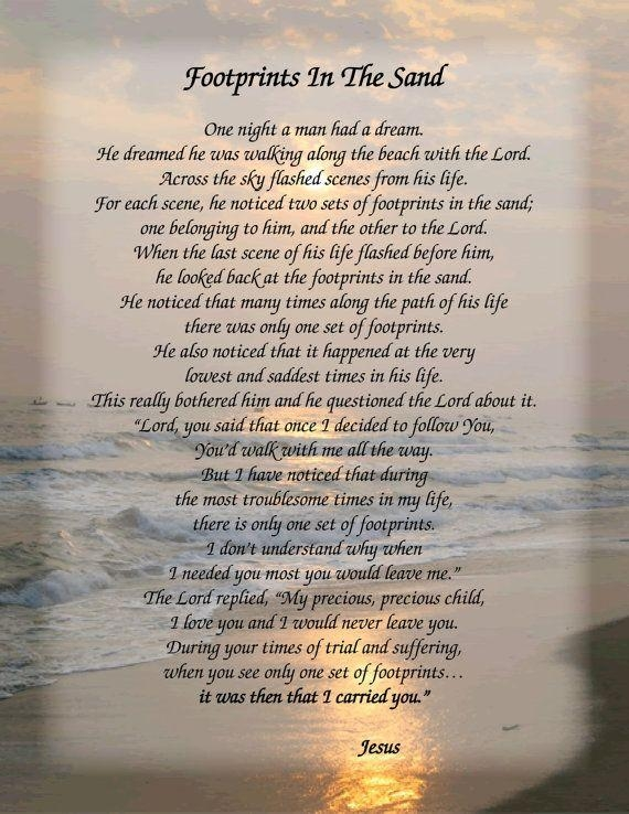 The 25+ Best Footprints In The Sand Poem Ideas On Pinterest In Footprints In The Sand Wall Art (Image 20 of 20)