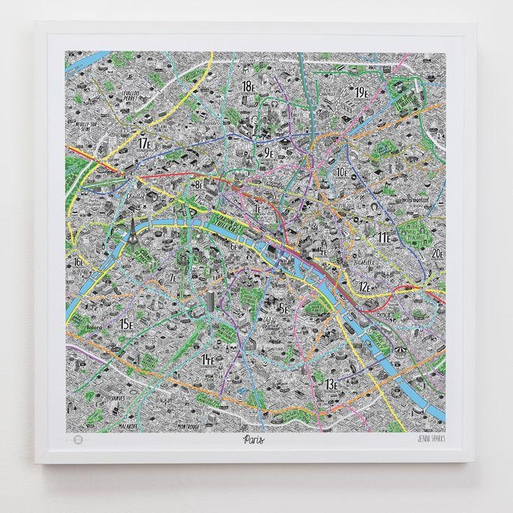 The 25+ Best Map Of Paris Ideas On Pinterest In Map Of Paris Wall Art (Image 17 of 20)