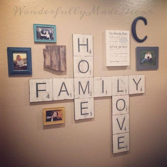 The 25+ Best Scrabble Wall Art Ideas On Pinterest | Scrabble Wall Regarding  Scrabble Letters