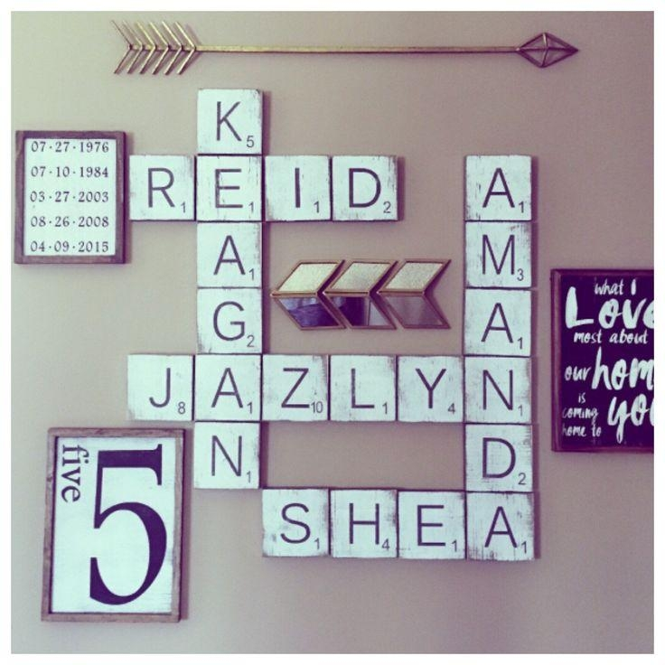 The 25+ Best Scrabble Wall Art Ideas On Pinterest | Scrabble Wall Within Scrabble Letter Wall Art (Image 16 of 20)