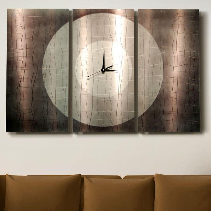 The 25+ Best Silver Wall Clock Ideas On Pinterest | Silver Walls For Italian Silver Wall Art (Image 15 of 20)
