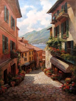 The Art Of Paul Guy Gantner Regarding Italian Village Wall Art (Image 18 of 20)