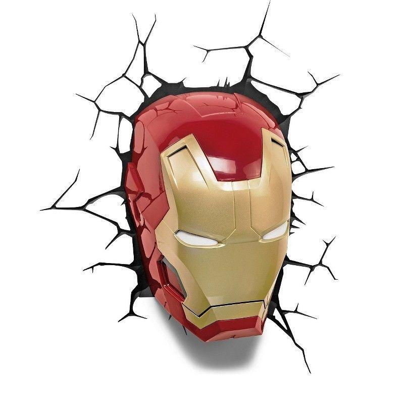 The Avengers 3D Wall Art Home Lighting Lamp Iron Man Mask Night With The Avengers 3D Wall Art Nightlight (View 2 of 20)