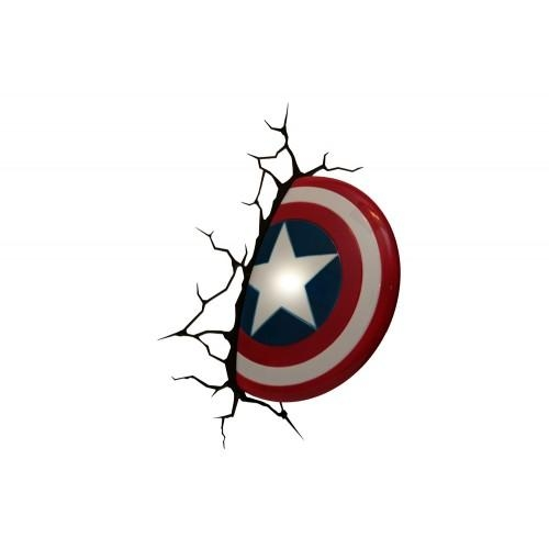 The Avengers 3D Wall Art Nightlight – Captain America Regarding The Avengers 3D Wall Art Nightlight (View 18 of 20)