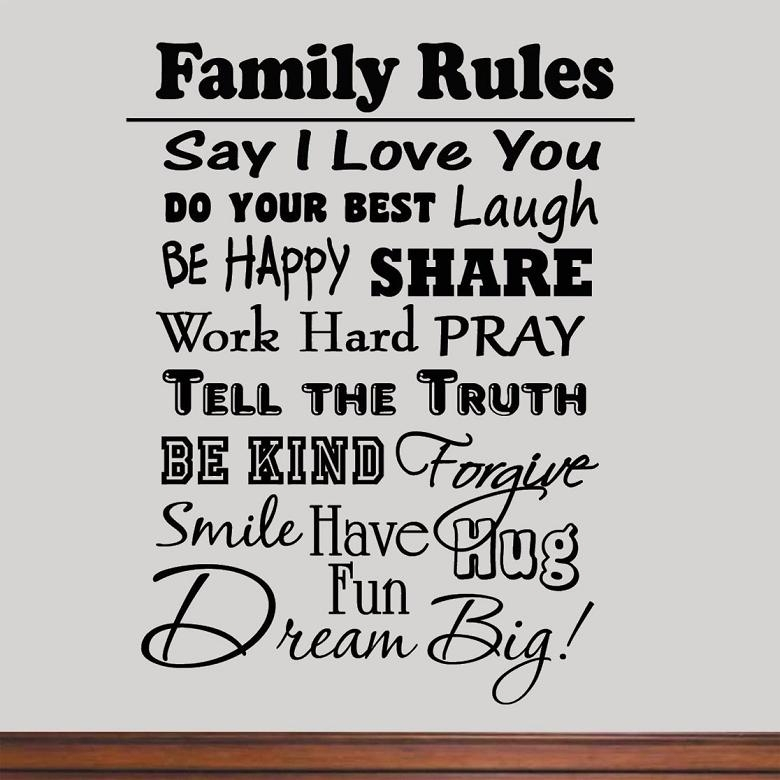 The Awesome And Lovely Family Rules Wall Art Regarding Wish In Family Rules Canvas Wall Art (View 17 of 20)