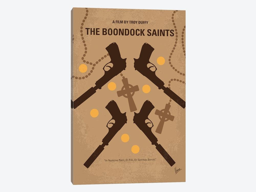 The Boondock Saints Minimal Movie Poster Canvas Wa | Chungkong Intended For Boondock Saints Wall Art (Image 18 of 20)