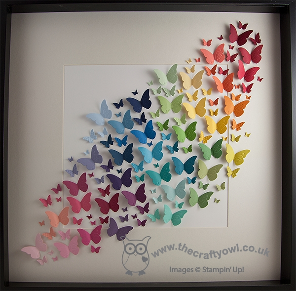 The Crafty Owl | Rainbow Butterfly Wall Art For Rainbow Butterfly Wall Art (View 3 of 20)
