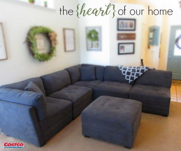 The {Heart} Of Our Home Is Our Living Room :: Our New 6 Piece With Costco Sectional Sofas (Image 19 of 20)