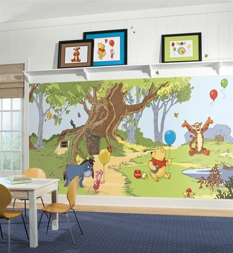 The Pooh Wall Murals – Huge Realistic Wall Decor – Extra Large Within Winnie The Pooh Wall Decor (Image 9 of 20)