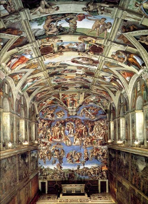 The Sistine Chapel With Frescosthe Greatest Italian Intended For Italian Renaissance Wall Art (View 13 of 20)