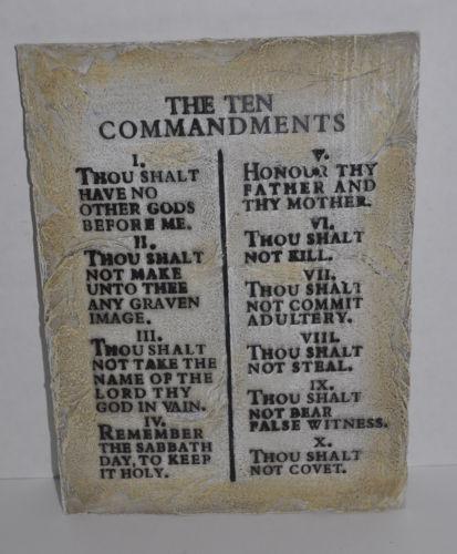 The Ten Commandments Bible Wall Art Hanging Resin Plaque 12 X 8 Throughout Ten Commandments Wall Art (View 9 of 20)