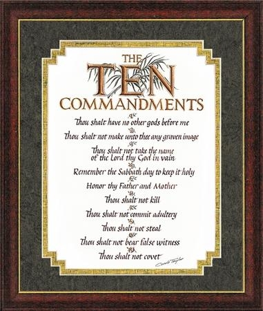 The Ten Commandments Framed Wall Art With 10 Commandments Wall Art (View 18 of 20)