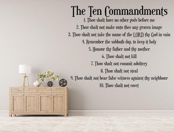 The Ten Commandments Vinyl Wall Decal 10 Commandments Vinyl With Ten Commandments Wall Art (Image 17 of 20)