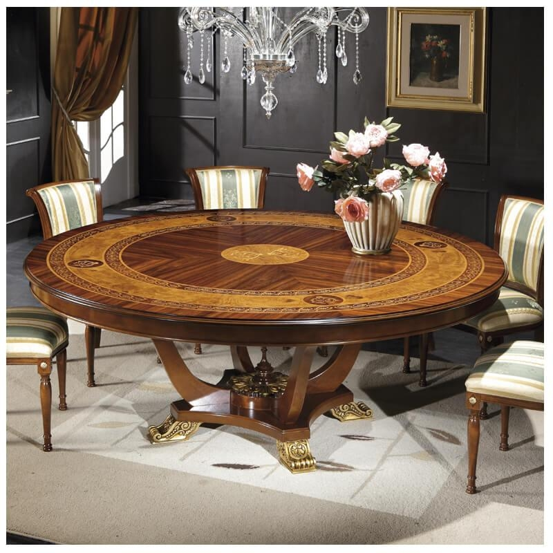 The Ventuno 79″round Italian Dining Table Gv1241 | Italyweb With Regard To 2017 Italian Dining Tables (Image 19 of 20)