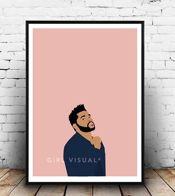 The Weeknd Merch The Weeknd Poster The Weeknd Print The In The Weeknd Wall Art (View 11 of 20)