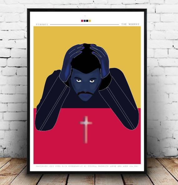 The Weeknd Starboy A3 Poster Print The Weeknd Starboy Wall Pertaining To The Weeknd Wall Art (Image 15 of 20)