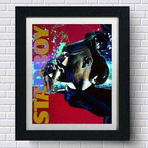 The Weeknd Starboy Wall Art | Products In The Weeknd Wall Art (Image 16 of 20)